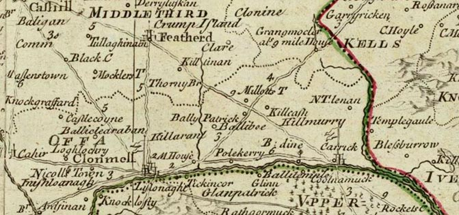 Eighteenth-century map of Tipperary